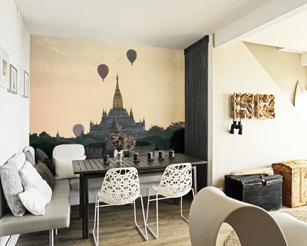 Balloons in Myanmar Wall Mural-Landscapes & Nature-Eazywallz