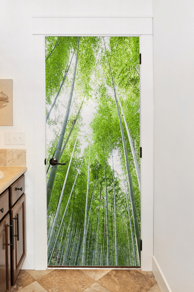 Bamboo Forest Door Mural-Landscapes & Nature-Eazywallz