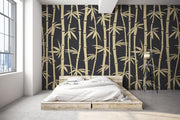 Black Bamboo Wallpaper Mural