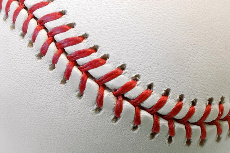 Baseball ball detail Wall Mural-Macro,Sports-Eazywallz