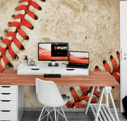 Baseball stitch Wall Mural-Macro,Sports-Eazywallz