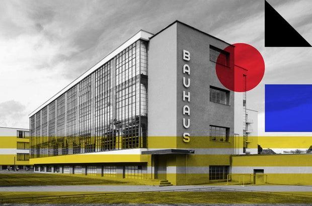 Bauhaus Art Collective Wall Mural-Abstract,Black & White,Buildings & Landmarks,Urban-Eazywallz