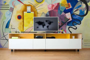 Bauhaus Yellow, Red, Blue Wallpaper Mural-Abstract,Black & White,Buildings & Landmarks,Urban-Eazywallz