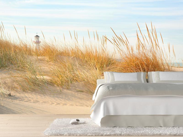 Beach Scene in Michigan Wall Mural-Buildings & Landmarks,Landscapes & Nature-Eazywallz