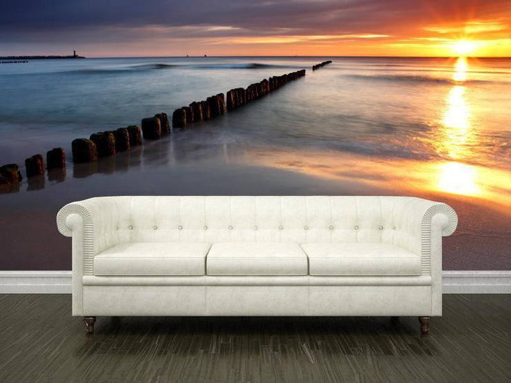 Beautiful sunrise Wall Mural-Landscapes & Nature,Tropical & Beach-Eazywallz