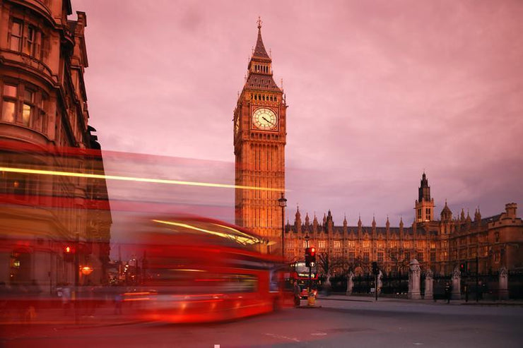 Big Ben at sunset, England Wall Mural-Buildings & Landmarks-Eazywallz