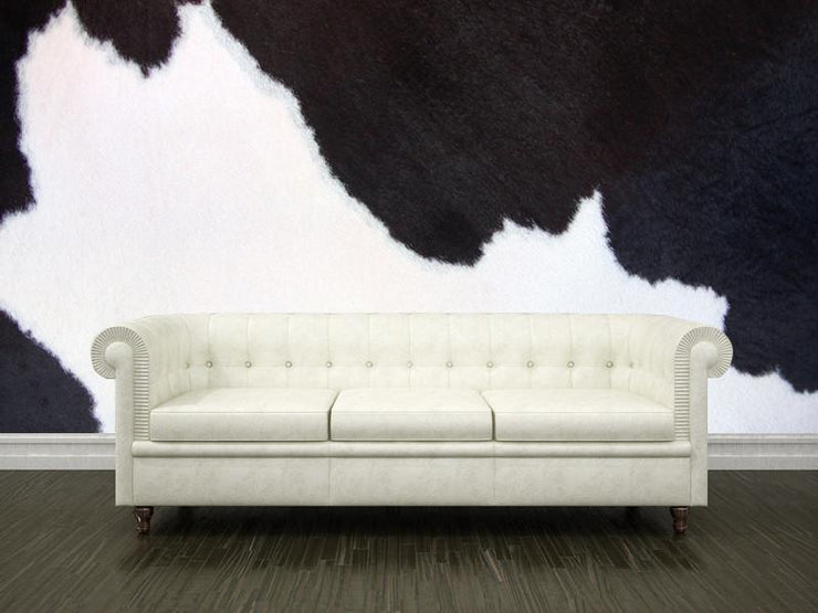 Black and white cowhide Wall Mural-Animals & Wildlife,Textures-Eazywallz