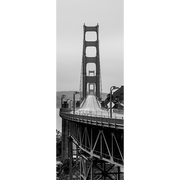 Black and White Golden Gate Bridge Door Mural-Buildings & Landmarks-Eazywallz