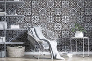 Black and White Mosaic Tile Wallpaper