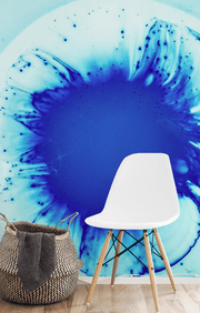 Blue Abstract Mural-Abstract,Modern Graphics,Featured Category of the Month-Eazywallz
