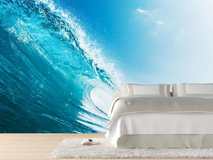 Blue ocean wave Wall Mural-Landscapes & Nature,Sports-Eazywallz