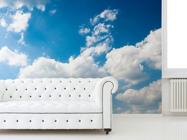 Blue Sky And Clouds Wall Mural-Landscapes & Nature-Eazywallz