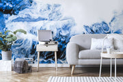 Blue Wave Abstract Acrylic Mural