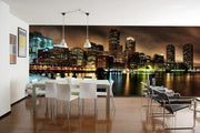 Boston at Night Wall Mural-Cityscapes,Panoramic,Best Rated Murals-Eazywallz