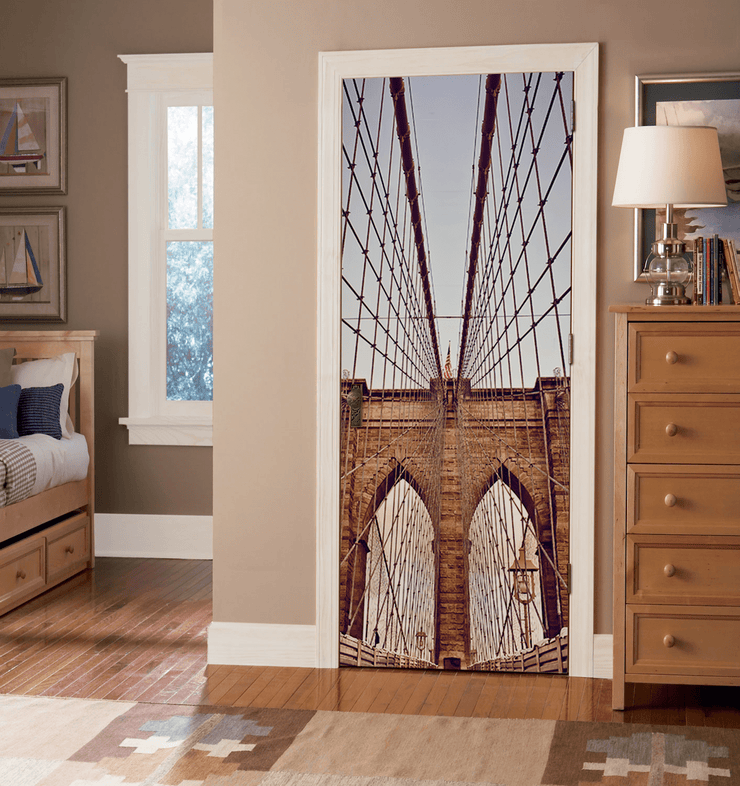 Brooklyn Bridge Door Mural-Buildings & Landmarks-Eazywallz