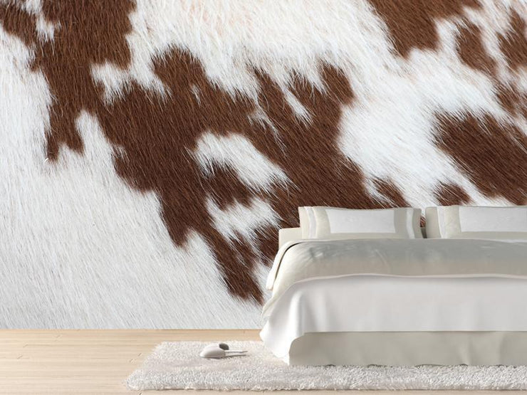 Brown cowhide Wall Mural-Animals & Wildlife,Textures-Eazywallz