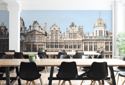 Brussels Architectural Wall Mural-Buildings & Landmarks-Eazywallz