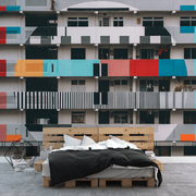 Building Colour Beep Wall Mural-Cityscapes-Eazywallz