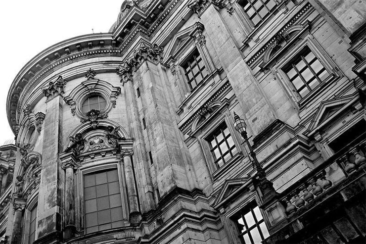 Building Detail Wall Mural-Abstract,Black & White,Buildings & Landmarks,Urban-Eazywallz