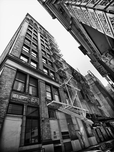 Buildings of NYC Wall Mural-Black & White,Cityscapes,Buildings & Landmarks,Urban,Featured Category-Eazywallz