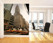 Busy Manhattan Wall Mural-Buildings & Landmarks,Cityscapes,Transportation,Urban,Featured Category-Eazywallz