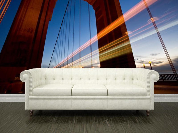Cars passing on the Golden Gate Bridge Wall Mural-Buildings & Landmarks,Urban-Eazywallz