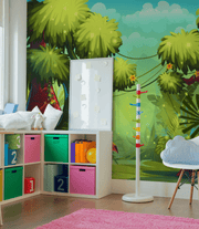 Cartoon Jungle Wall Mural-Kids' Stuff-Eazywallz