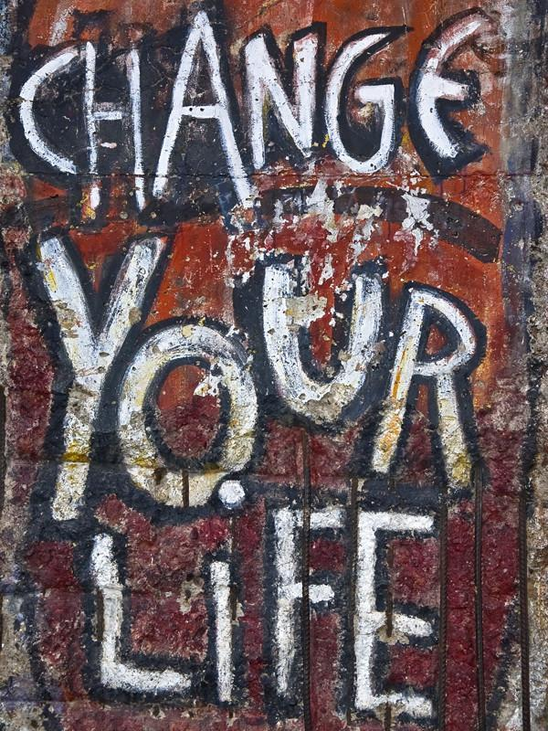 Change your life Wall Mural-Urban,Words-Eazywallz