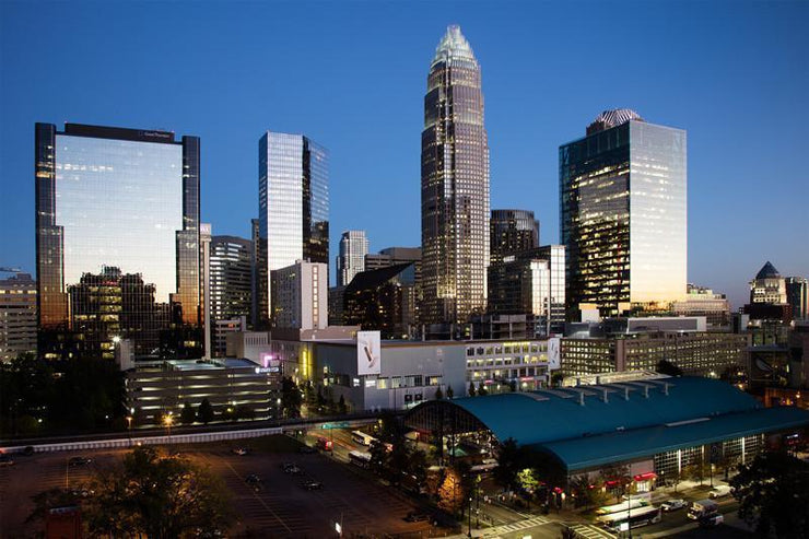 Charlotte Skyline Wall Mural-Cityscapes-Eazywallz
