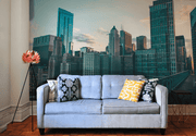 Chicago Skyline 2 Wall Mural-Cityscapes-Eazywallz