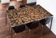 Chopped Wood Table Skin-Landscapes & Nature-Eazywallz