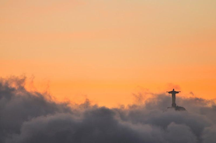 Christ Redeemer at Corcovado, Brazil Wall Mural-Buildings & Landmarks-Eazywallz