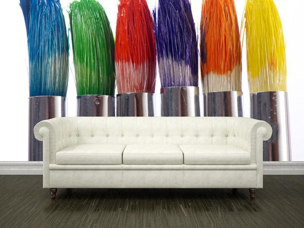 Colorful paintbrushes Wall Mural-Arts-Eazywallz