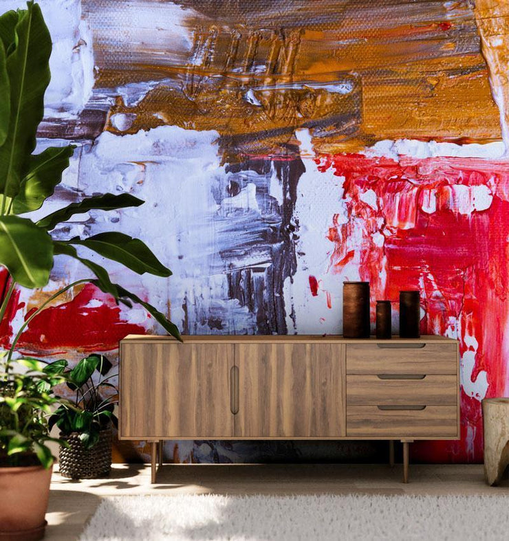 Colourful Abstract Canvas Painting Mural-Urban-Eazywallz