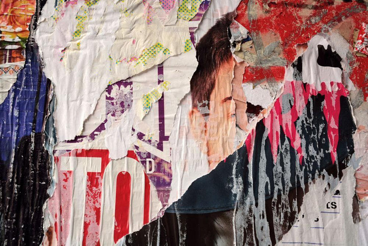 Colourful Torn Street Posters Wall Mural-Urban,Textures,Modern Graphics-Eazywallz