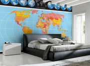 Complete World Map Wall Mural-Maps-Eazywallz
