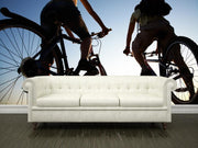 Couple on bicycles Wall Mural-Sports-Eazywallz