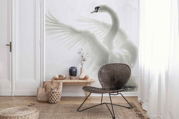 Graceful Swan Wallpaper Mural