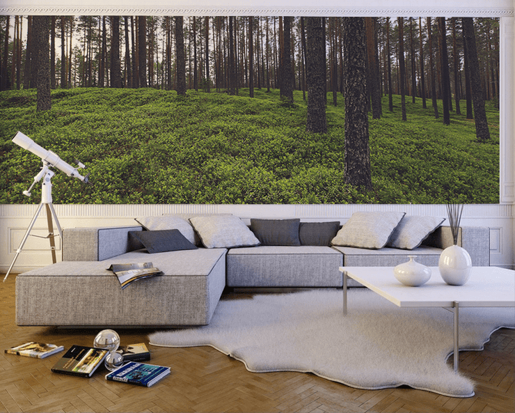 Deep Green Forest Wall Mural-Landscapes & Nature-Eazywallz