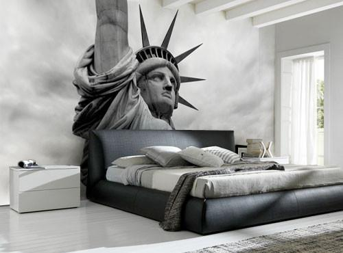 Detail of the Statue of Liberty Wall Mural-Black & White,Buildings & Landmarks,Featured Category-Eazywallz