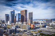Downtown Los Angeles Cityscape Wall Mural-Cityscapes-Eazywallz