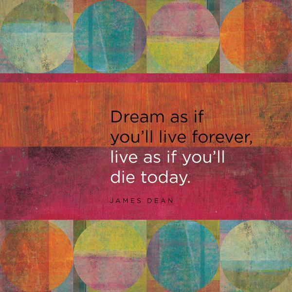 Dream as if... Wall Mural-Vintage,Zen,Words,Featured Category of the Month-Eazywallz