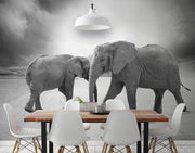 Dual Elephant Wall Mural-Animals & Wildlife-Eazywallz