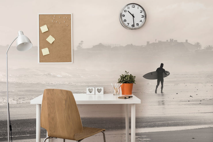 Early Morning Surf Wall Mural-Sports-Eazywallz