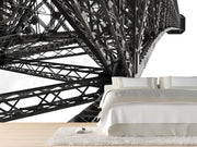Eiffel Tower detail, France Wall Mural-Black & White,Buildings & Landmarks-Eazywallz