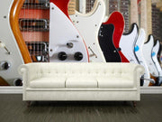 Electric guitars hanging on wall Wall Mural-Arts-Eazywallz
