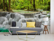 Erawan Waterfall Removable Wall mural-Landscapes & Nature-Eazywallz