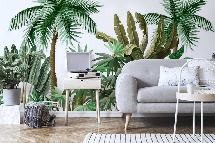 Exotic Tropical Jungle Wall Mural