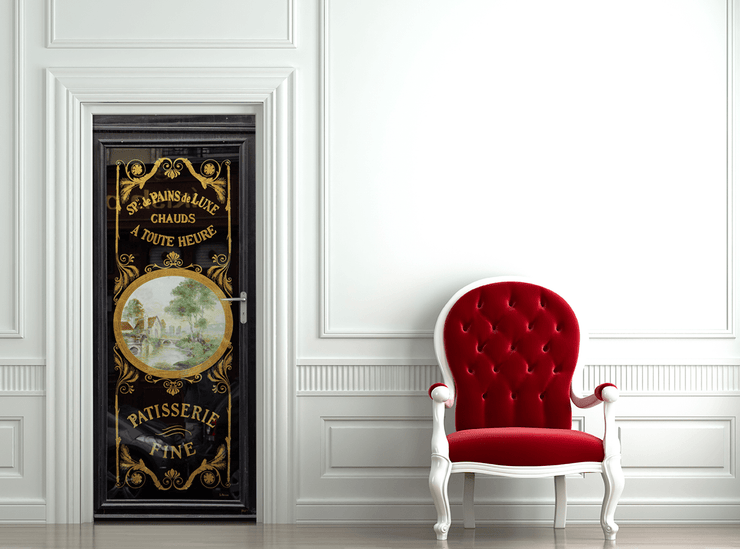 Fancy Paris Door Mural-vintage-Eazywallz