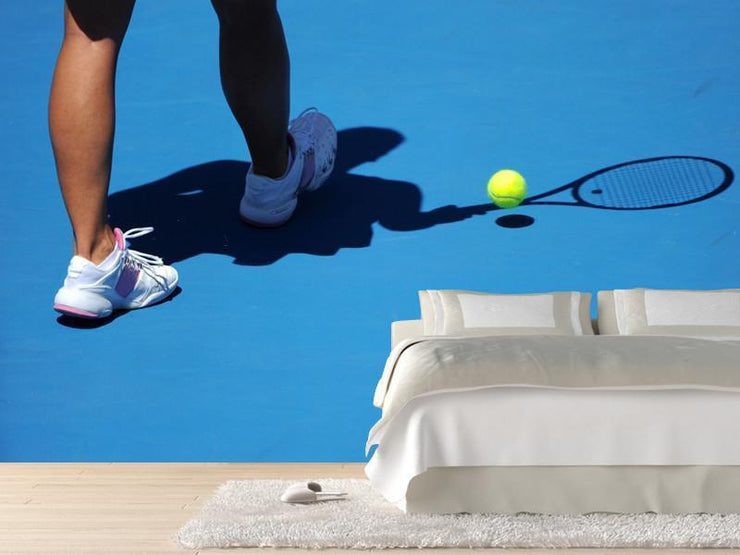 Female tennis player's legs Wall Mural-Sports-Eazywallz
